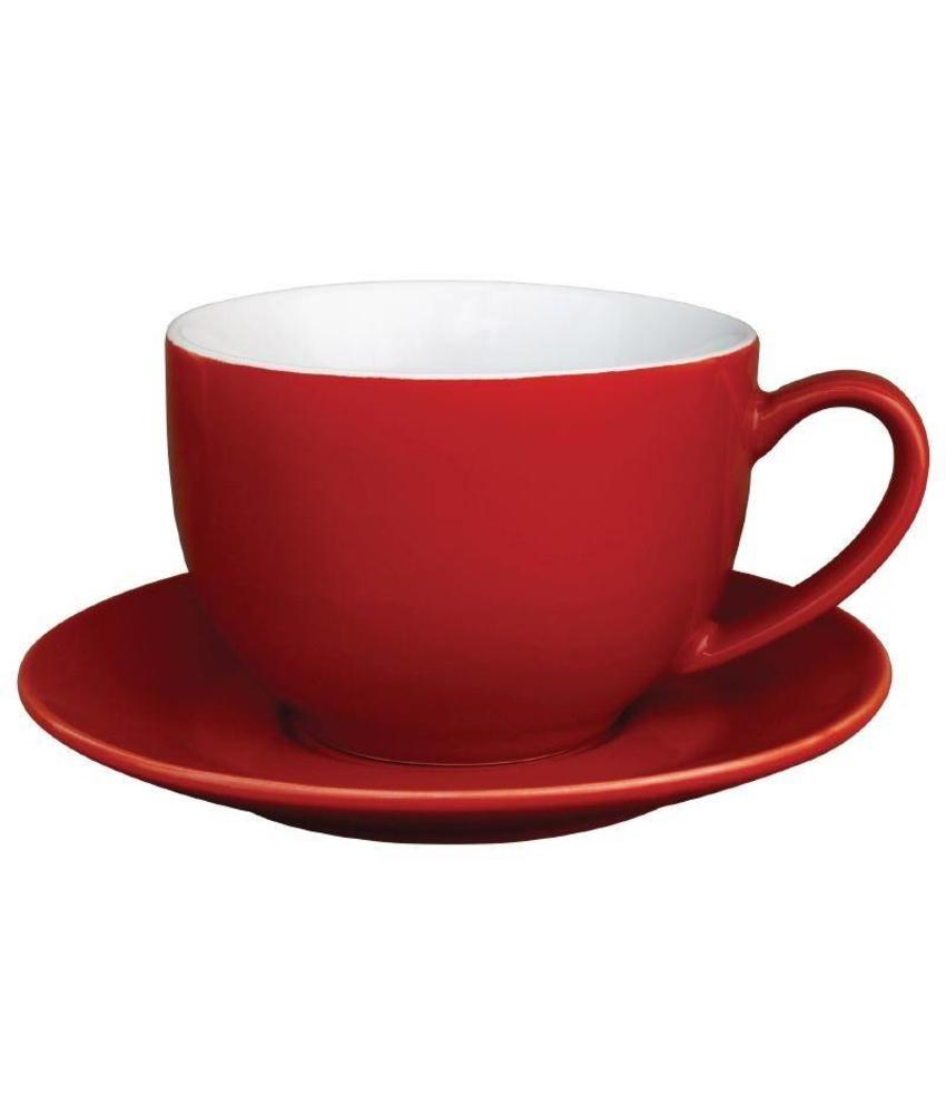 Olympia Olympia cappuccino kop rood 34cl 12 stuks
