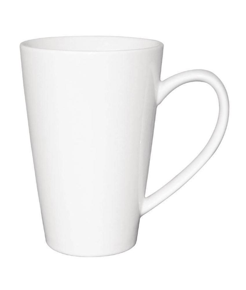 Olympia Olympia latte beker wit 34cl 12 stuks