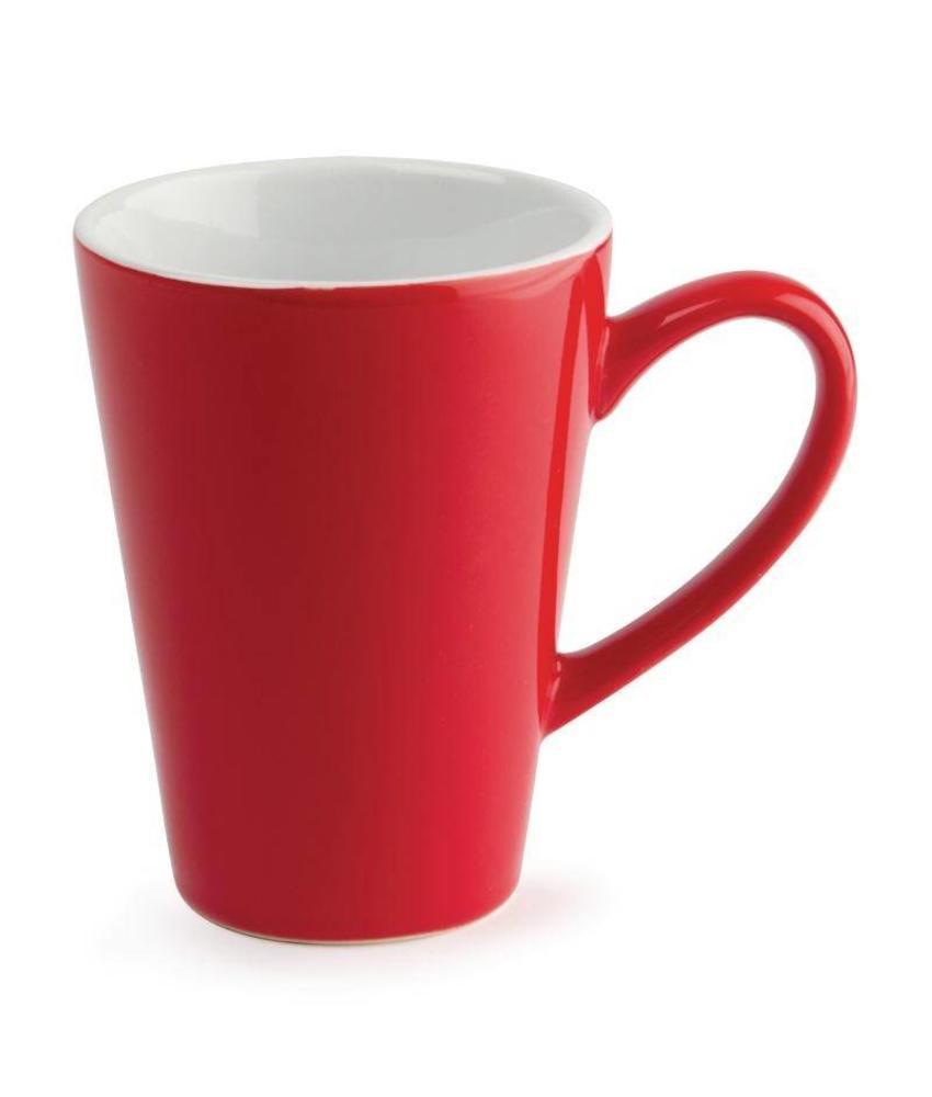 Olympia Olympia latte beker rood 34cl 12 stuks