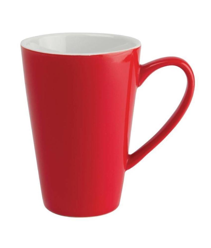 Olympia Olympia latte beker rood 45cl 12 stuks