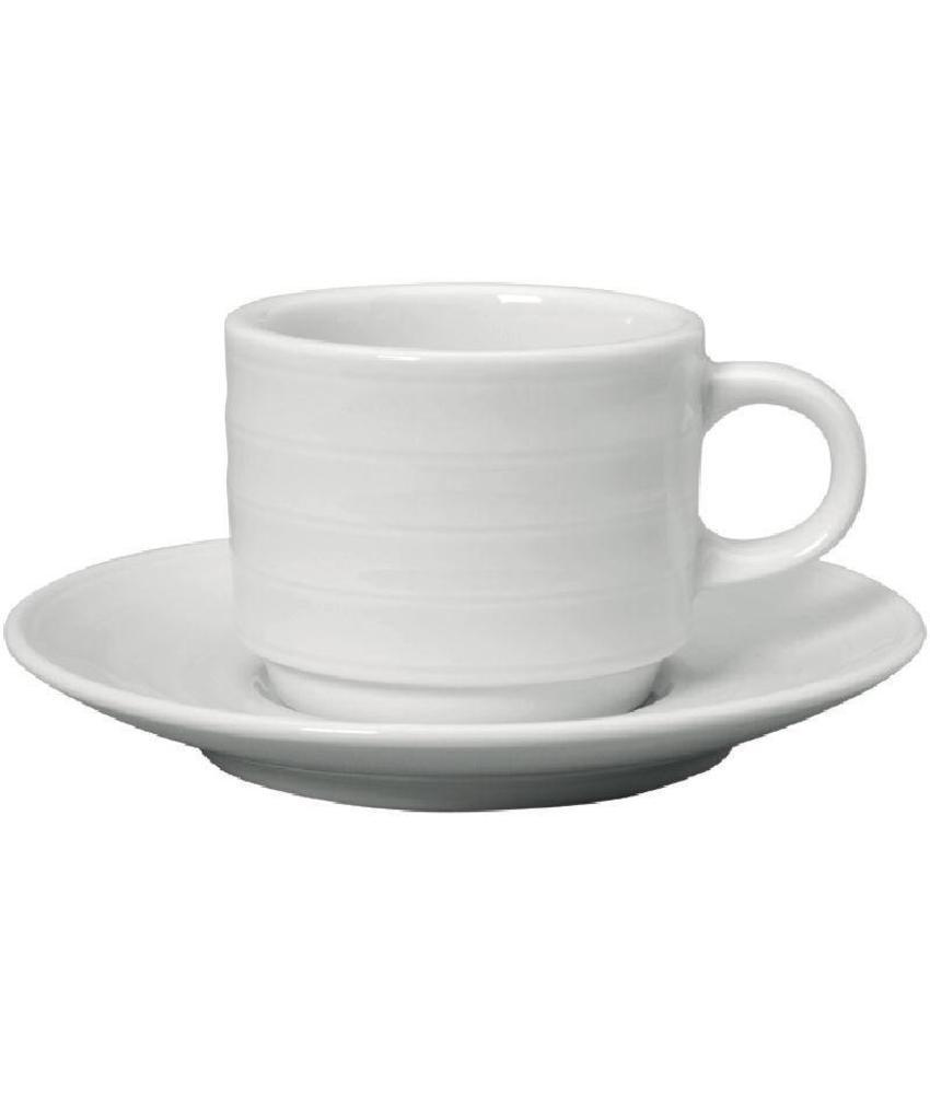 Intenzzo Intenzzo White espressokopje en schotel 8cl 4 stuks