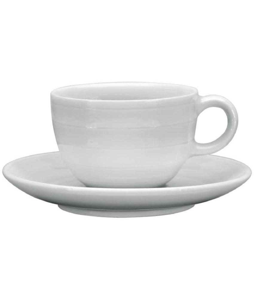 Intenzzo Intenzzo White stapelbare espressokopjes met schotel 11cl 4 stuks
