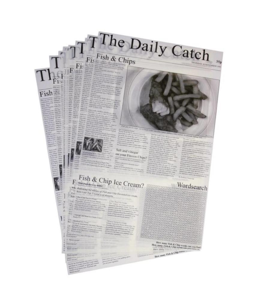 gastronoble Vetvrij papier krant opdruk 27x42cm (500 vel) 500 stuks