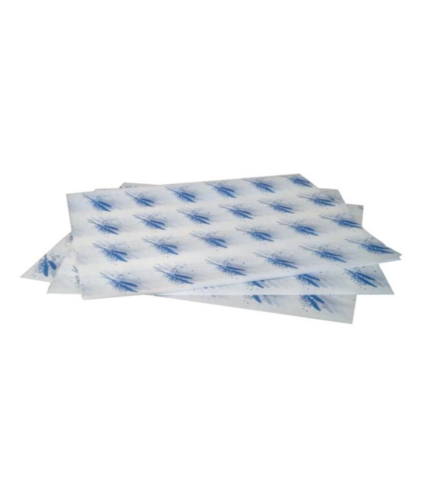 Vetvrij hamburger papier blauw 1000 stuks