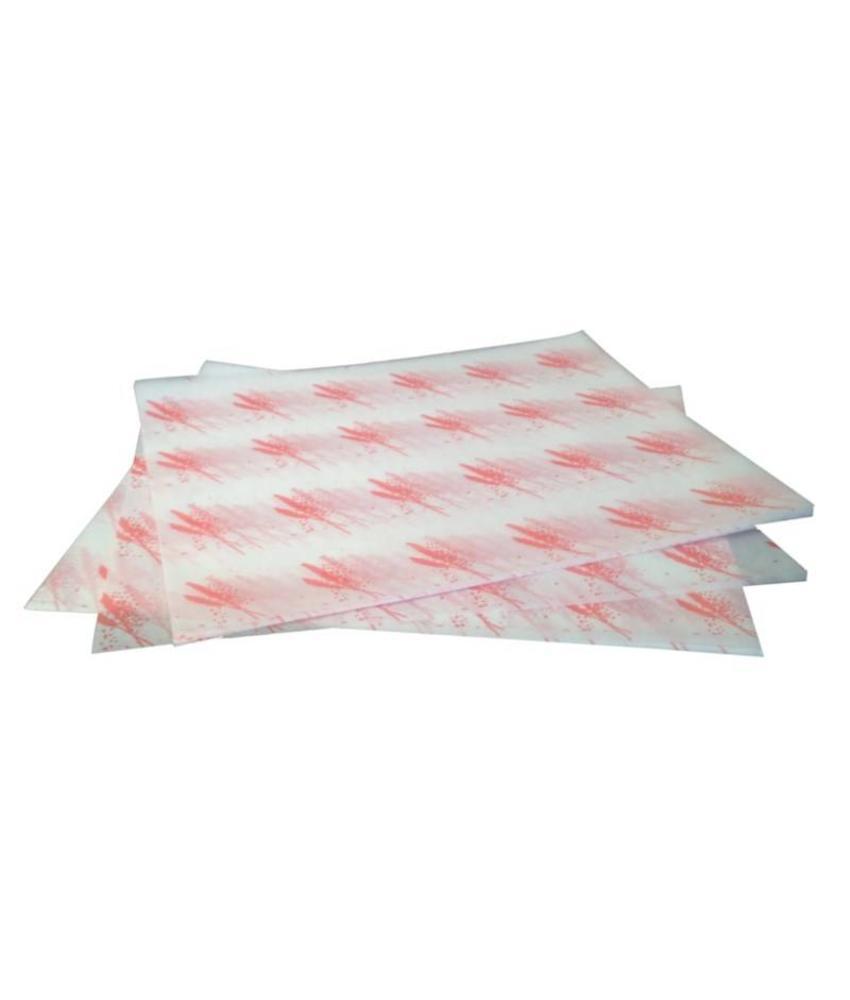 Vetvrij hamburger papier rood 1000 stuks