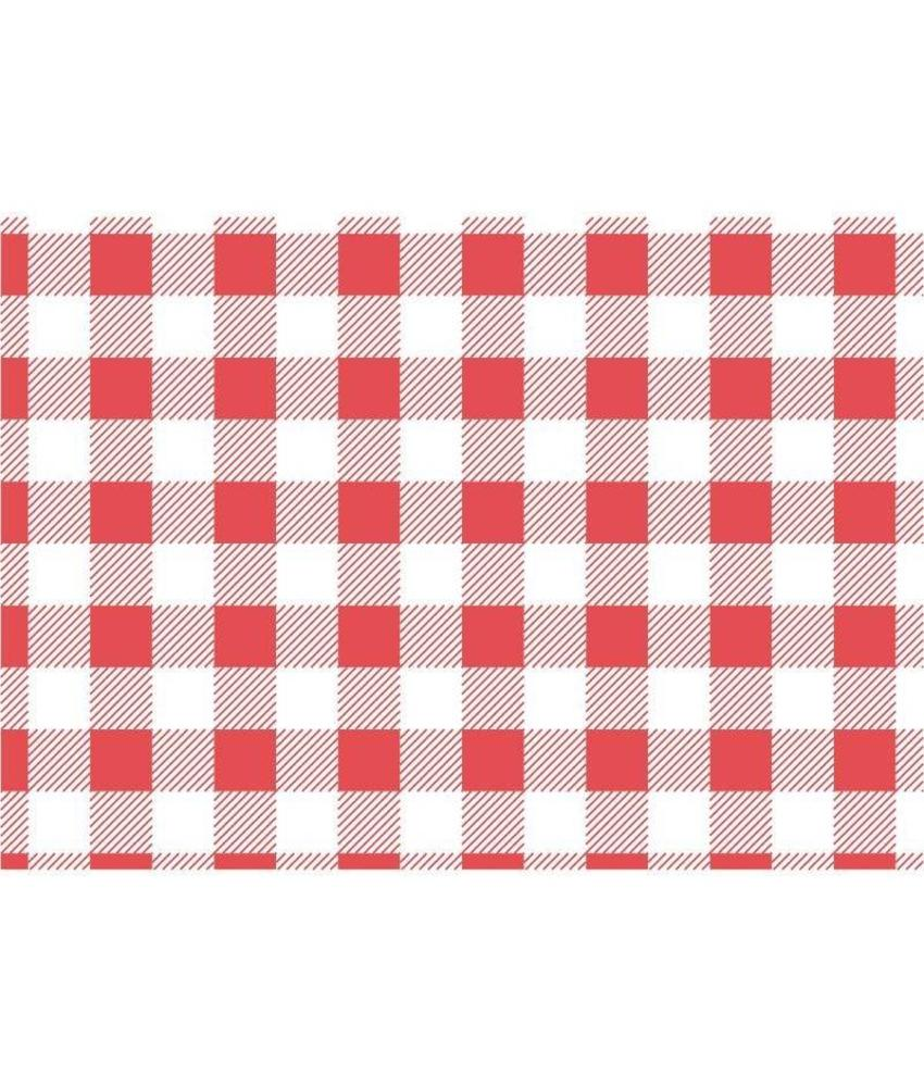 Rood geruit vetvrij papier 19x31cm 200 stuks