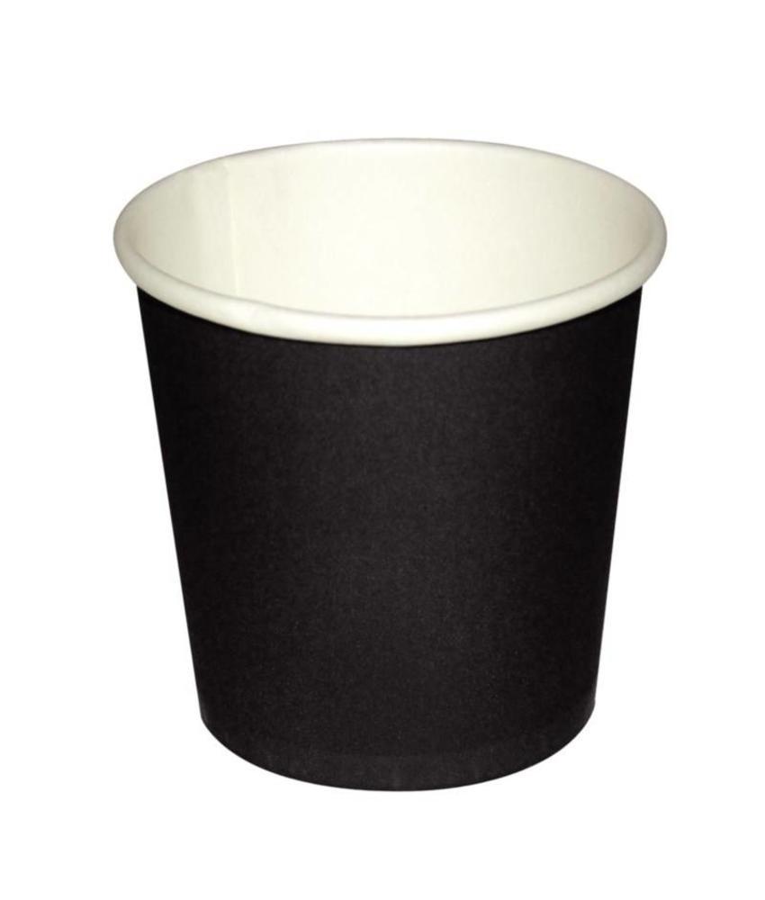 Fiesta Fiesta wegwerp zwarte espresso kopjes 11cl x50 50 stuks