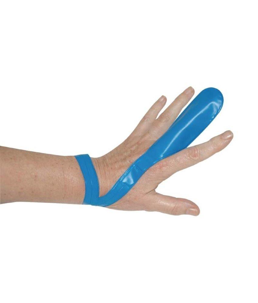 Blauwe vingerbeschermer