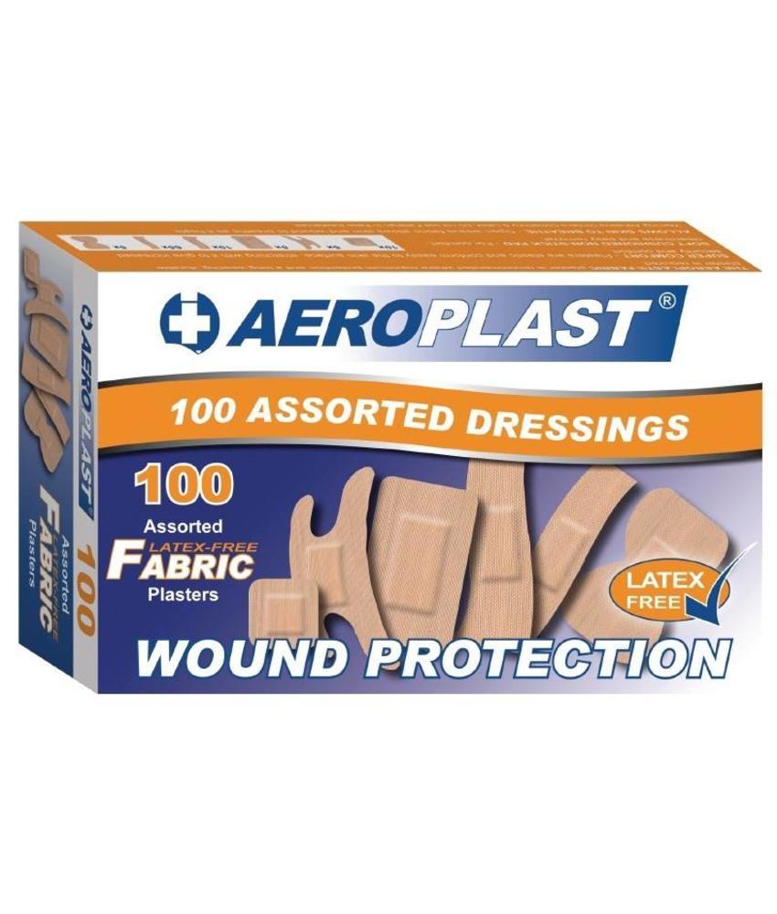 Aeroplast latexvrije pleisters assorti 100 stuks