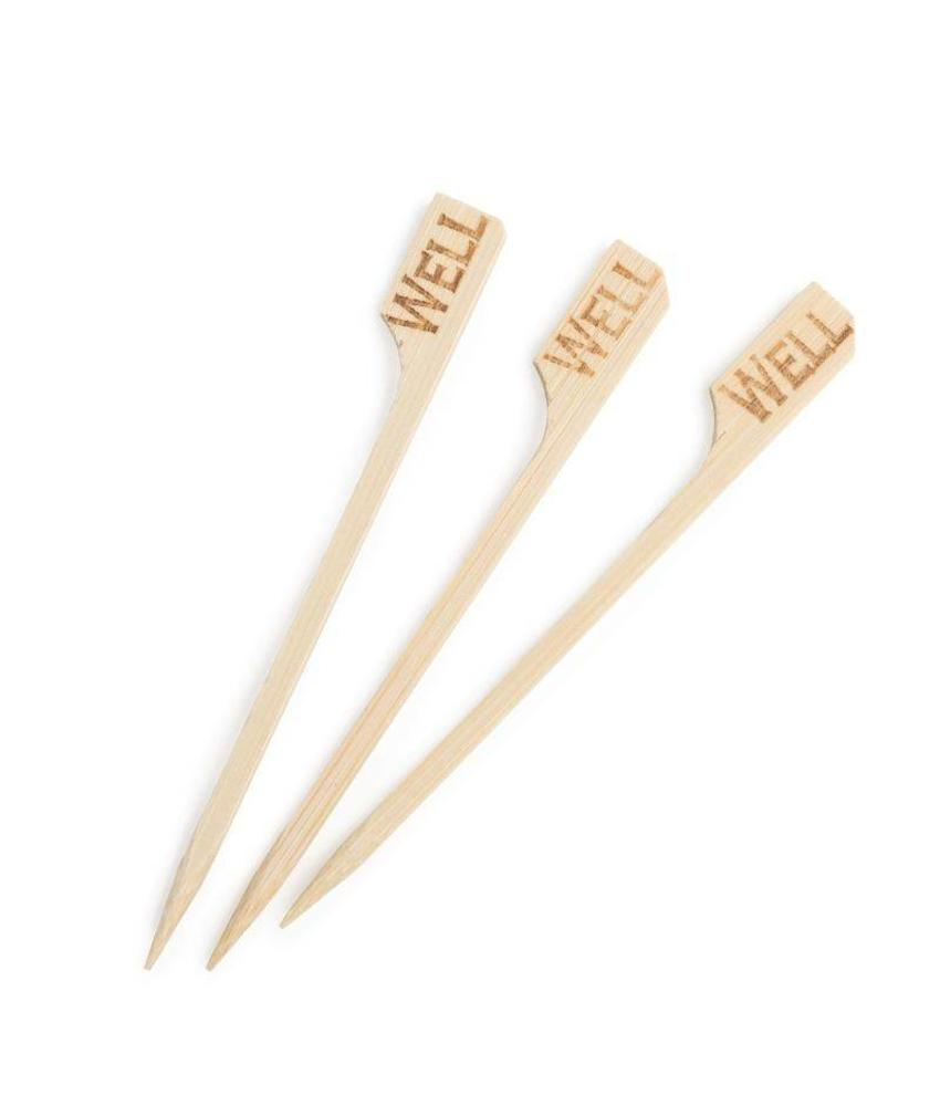 Bamboe steak marker 'well' 100 stuks