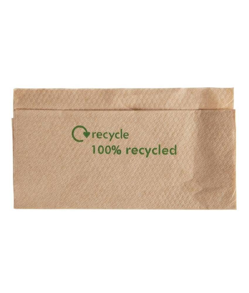 Olympia Gerecyclede servetten van kraftpapier 1-laags 6000 stuks