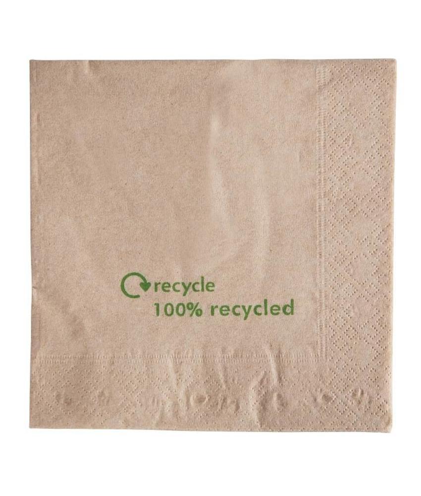 Gerecyclede servetten van kraftpapier 2-laags 2000 stuks