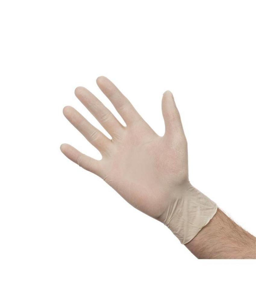Latex handschoen wit poedervrij L 100 stuks