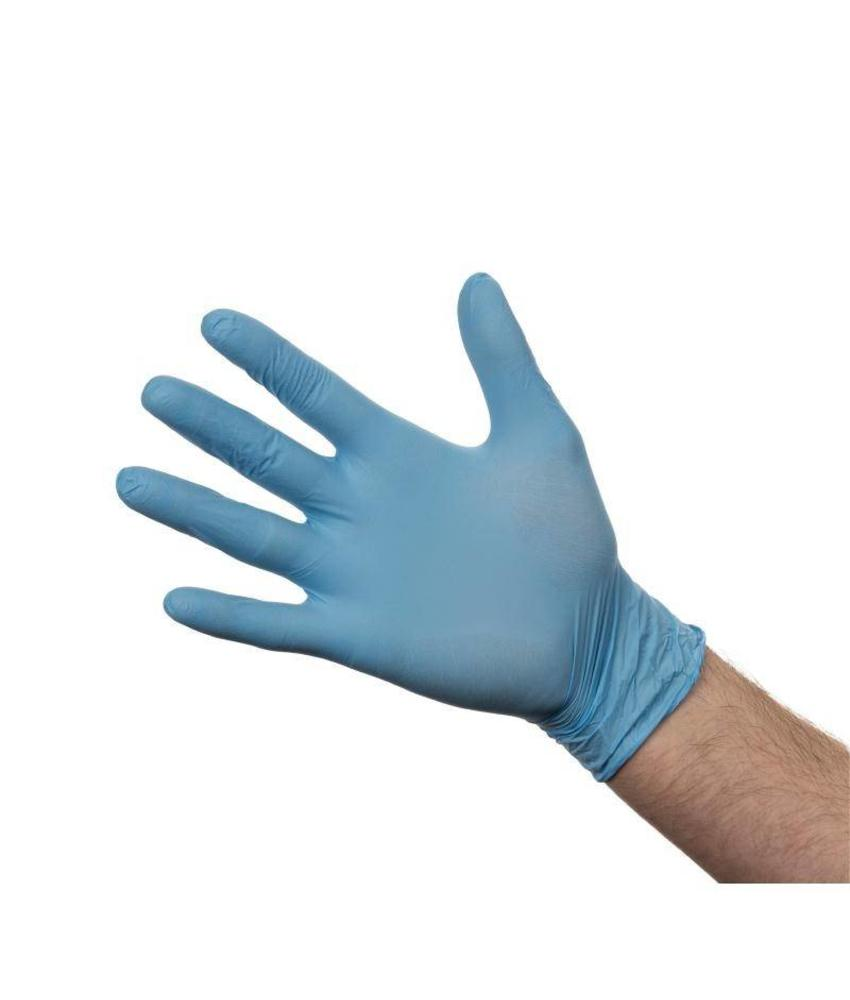 nitril Nitril handschoenen blauw poedervrij M 100 stuks