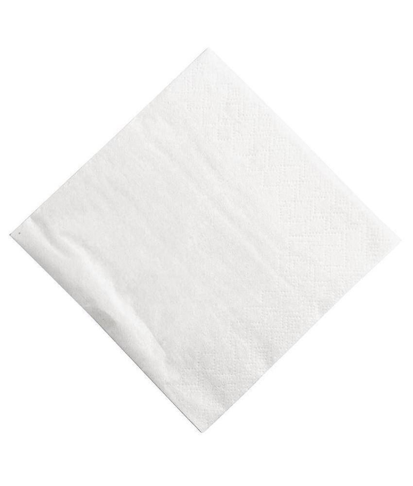 FASANA Papieren servetten wit 25cm 1500 stuks