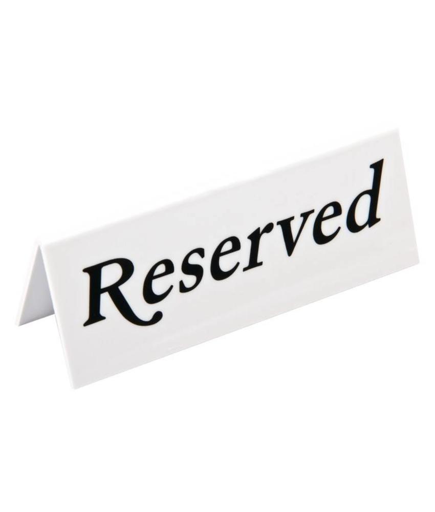 Olympia Olympia tafelbordje Reserved 10 stuks