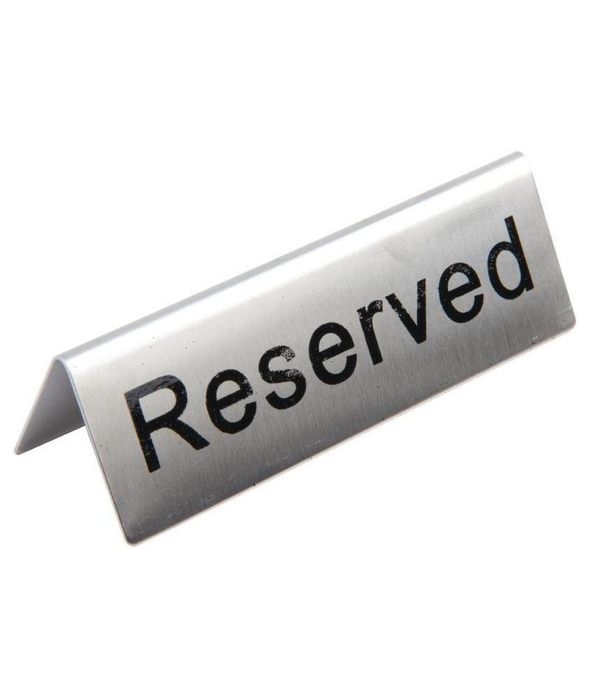 Olympia Olympia RVS tafelbordje RESERVED 10 stuks