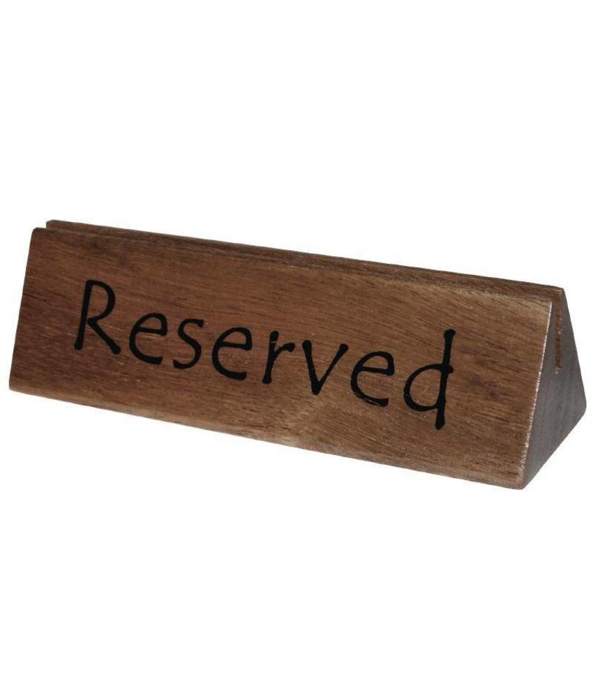 Olympia Olympia acacia houten menuhouder en gereserveerd bordje 10 stuks