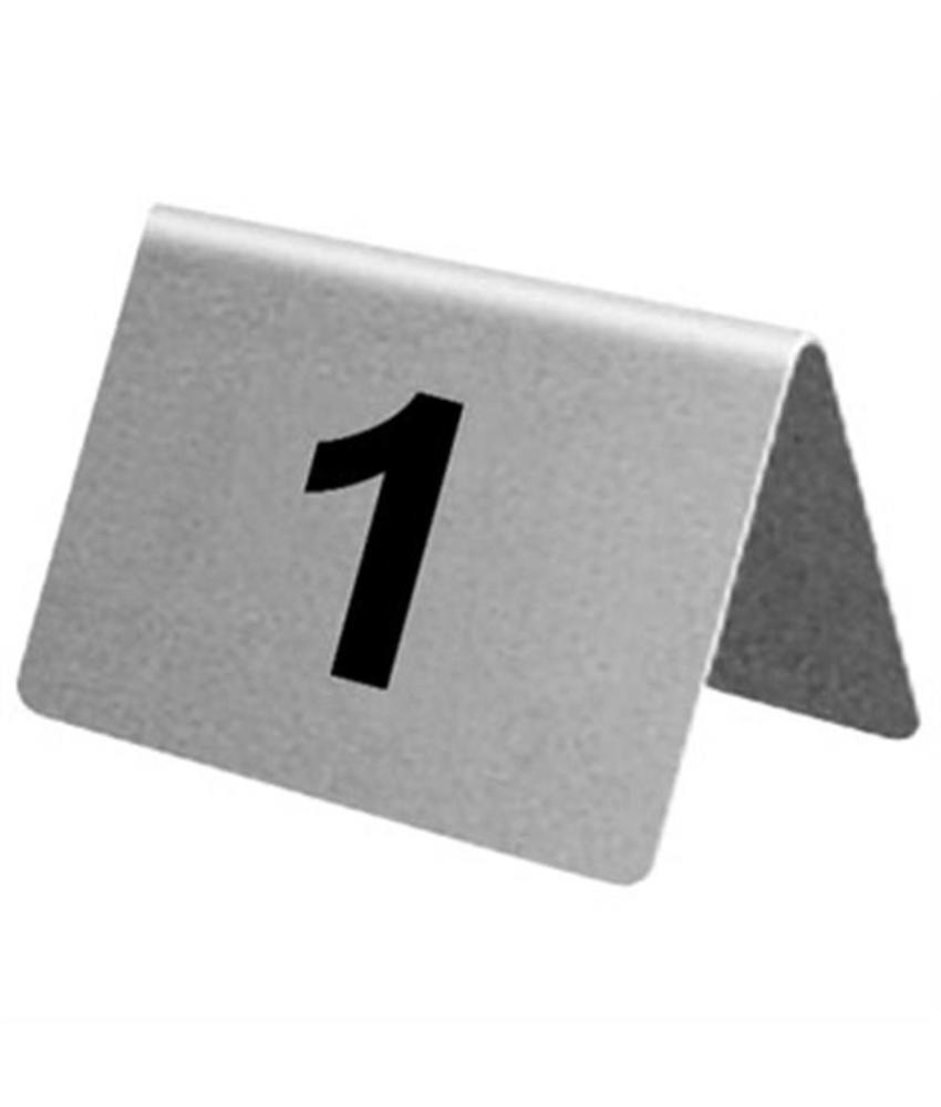 Olympia RVS tafelnummers 1-10 10 stuks