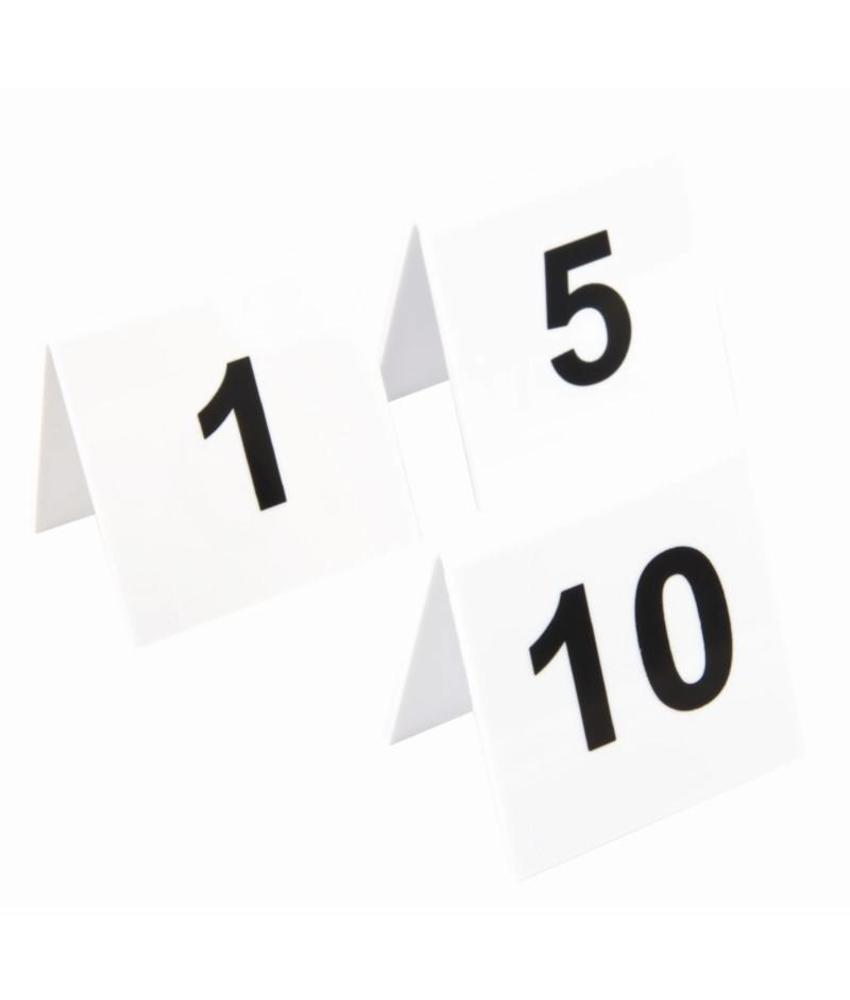 Olympia plastic tafelnummers 1-10