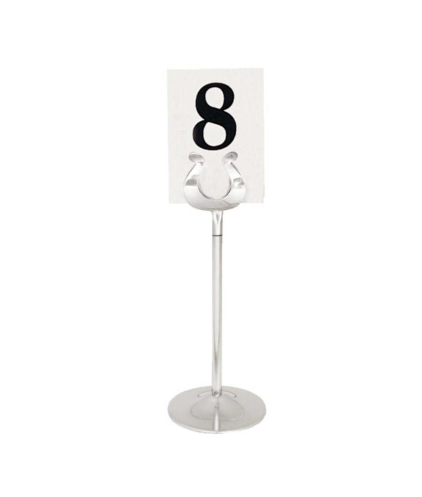 Olympia tafelnummer houder RVS 20cm