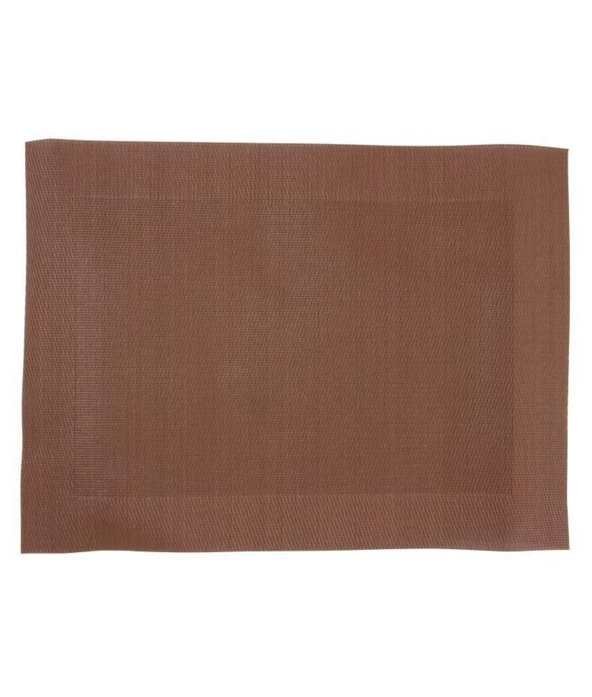 Olympia PVC geweven placemats bruin 4 stuks