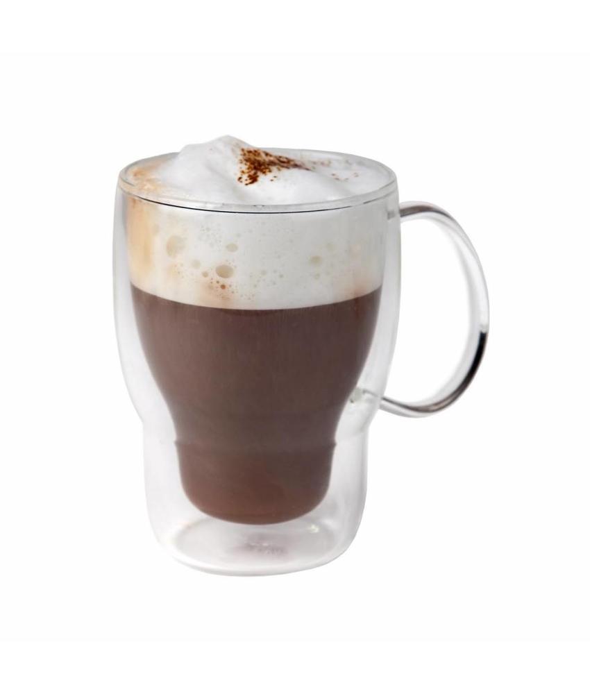 Stylepoint Koffie-theeglas dubbelwandig 400 ml 6 stuks