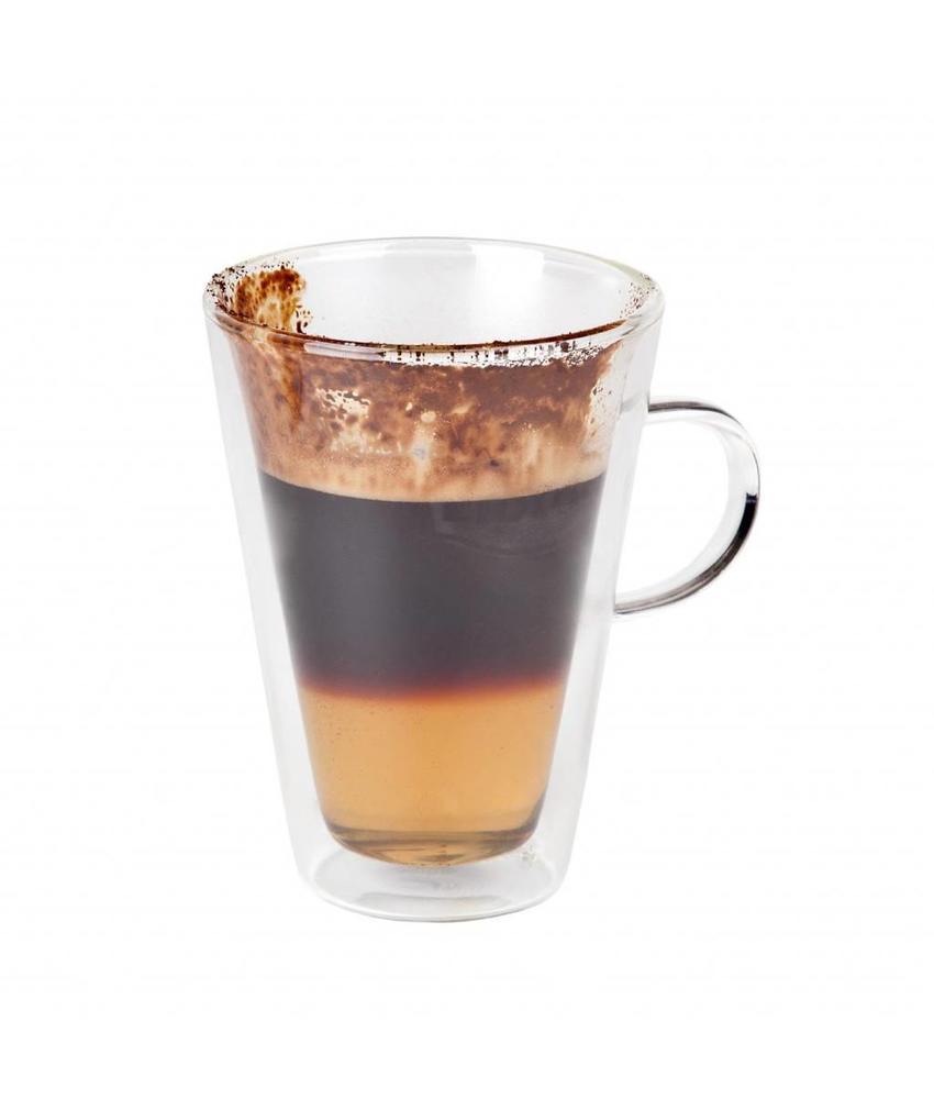 Coffeepoint Macchiato-/theeglas dubbelwandig 280 ml  ( 6 stuks)