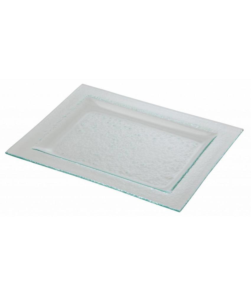 Stylepoint Glasbord rechthoekig met rand 29 x 22,5 cm 6 stuk(s)