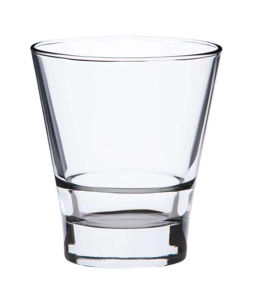 Stylepoint Conisch glas met stapelrand 265 ml 12 stuks