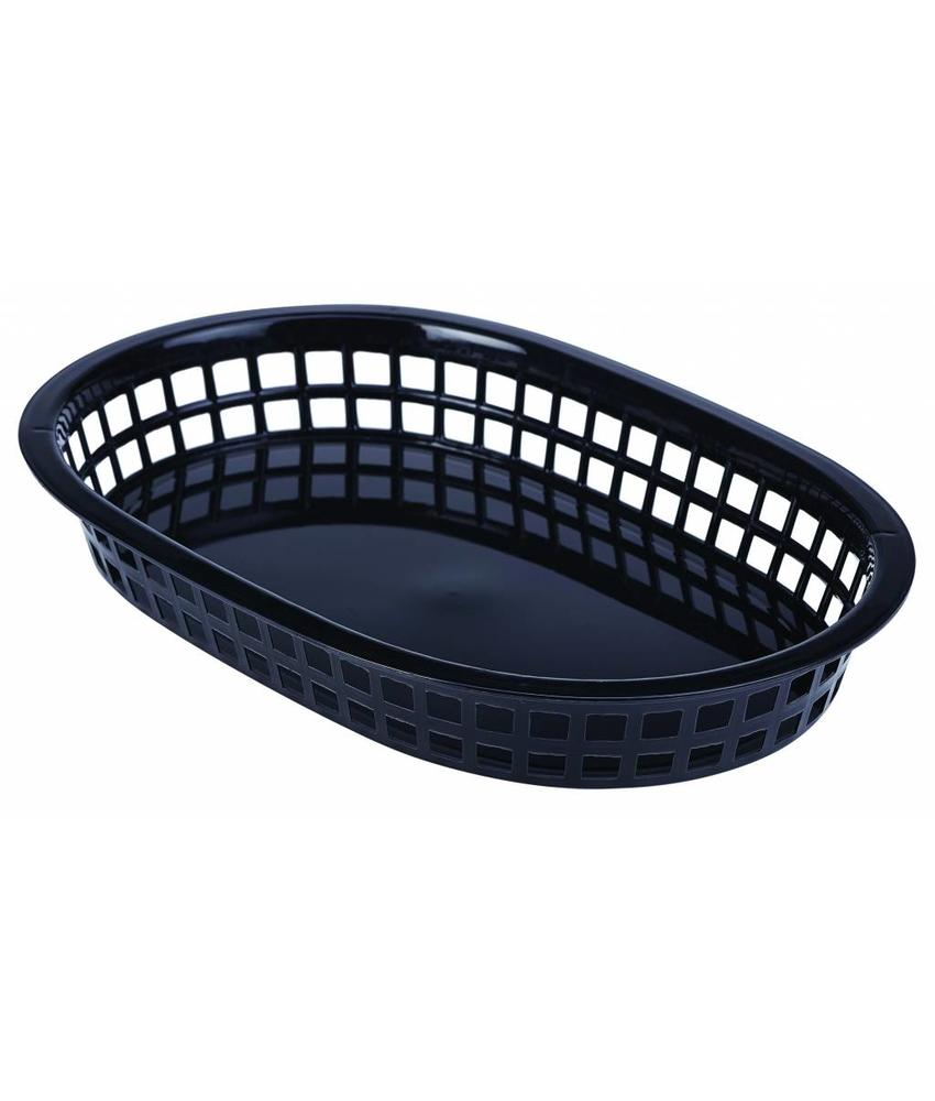 Stylepoint Fastfood mandje zwart 27,5 x 17,5 cm 6 stuks