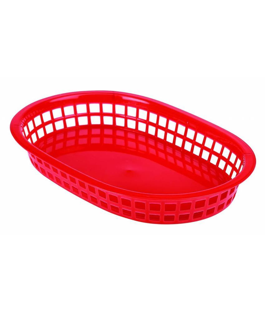 Stylepoint Fastfood mandje rood 23,5 x 15,4 cm 6 stuks