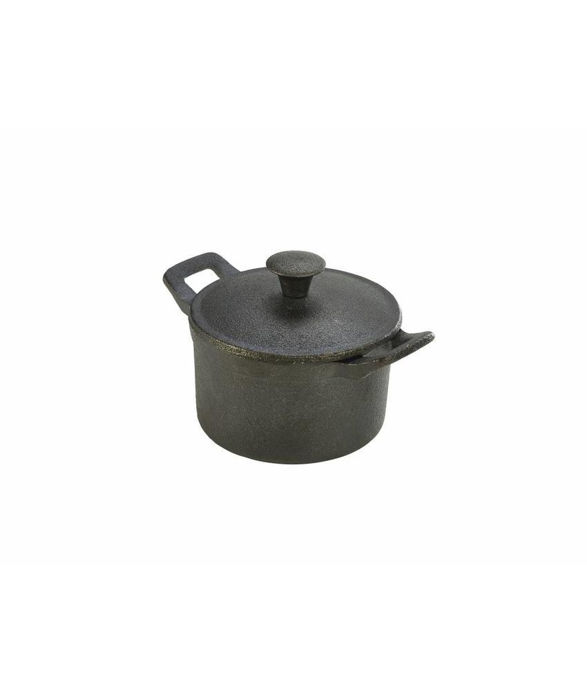 Stylepoint Gietijzer mini pan rond met handvat/deksel 400 ml