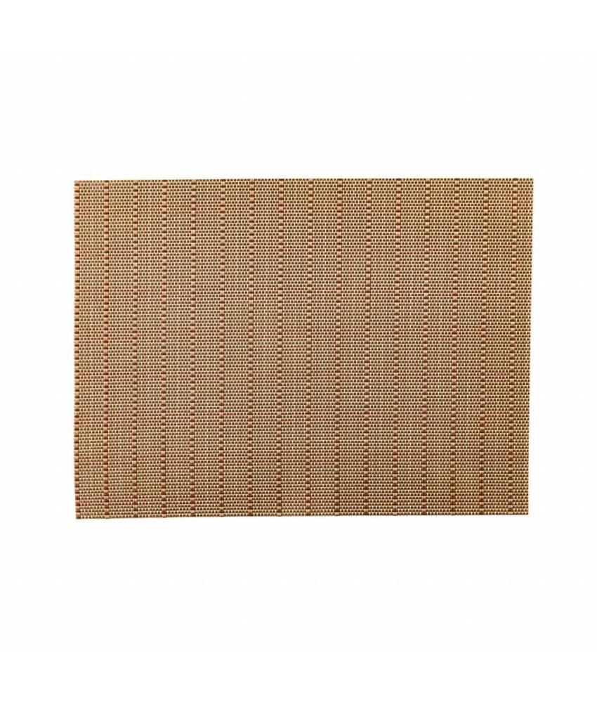 Stylepoint Placemat rechthoekig Koper/Goud/Zilver 45 x 33 cm 24 stuk(s)