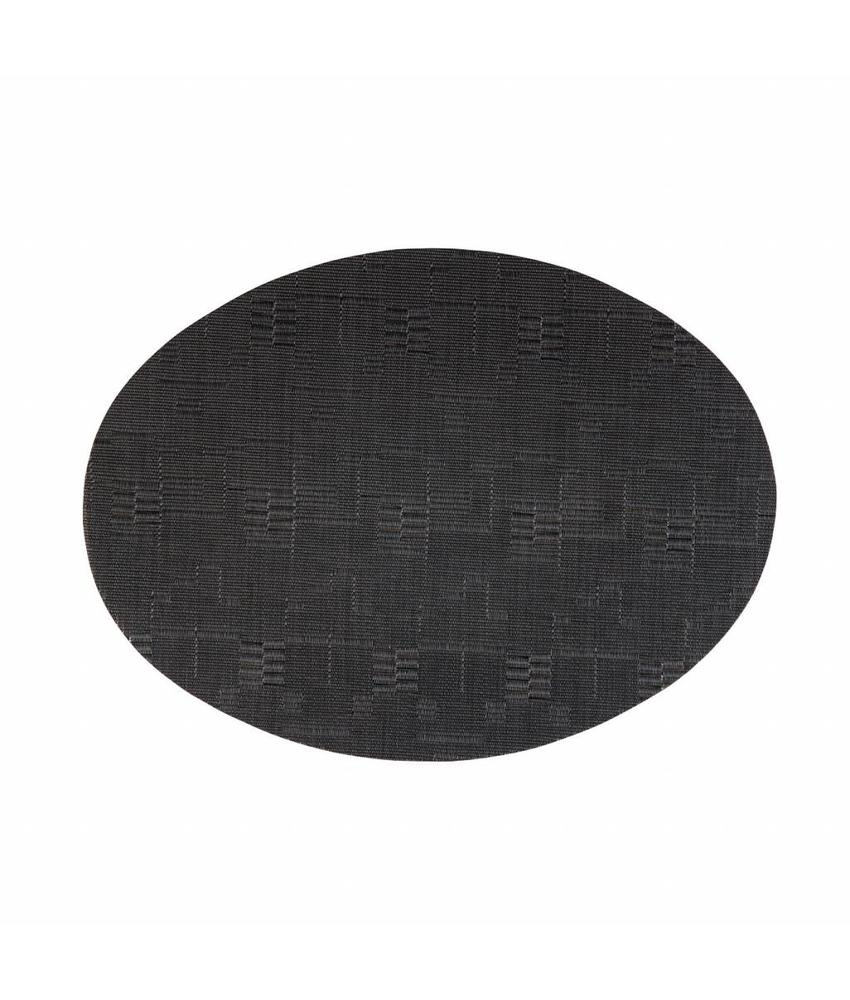 Stylepoint Placemat ovaal Zwart 49 x 36 cm 24 stuk(s)