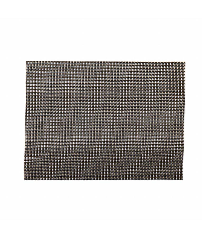 Stylepoint Placemat rechthoekig Zilver/Koper 45 x 33 cm 24 stuk(s)
