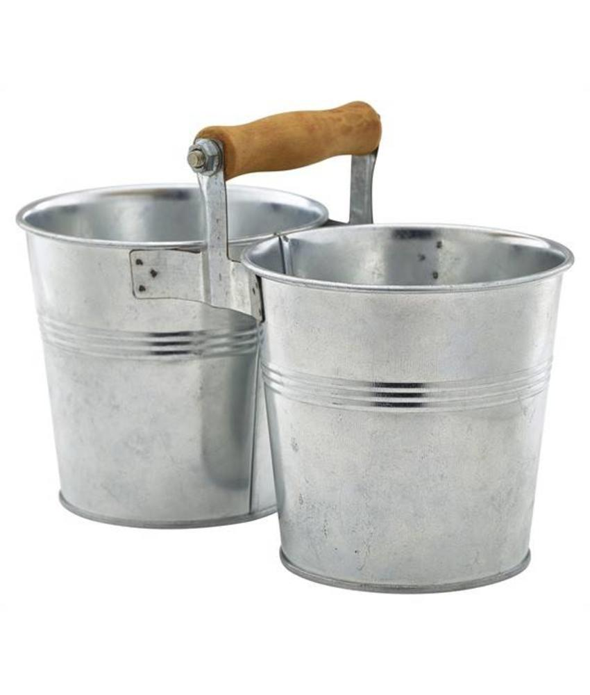 Stylepoint Gegalvaniseerde stalen duo serveeremmer 12 cm