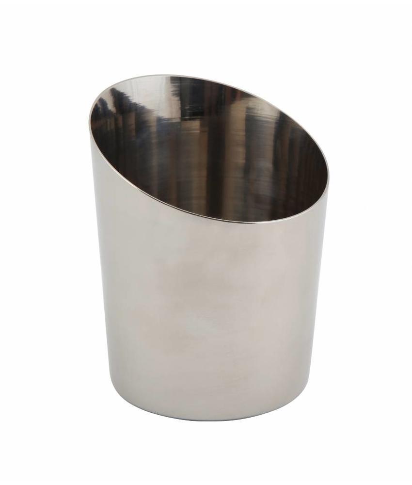 Stylepoint RVS friet/presentatiebakje glad schuin 9,5 cm
