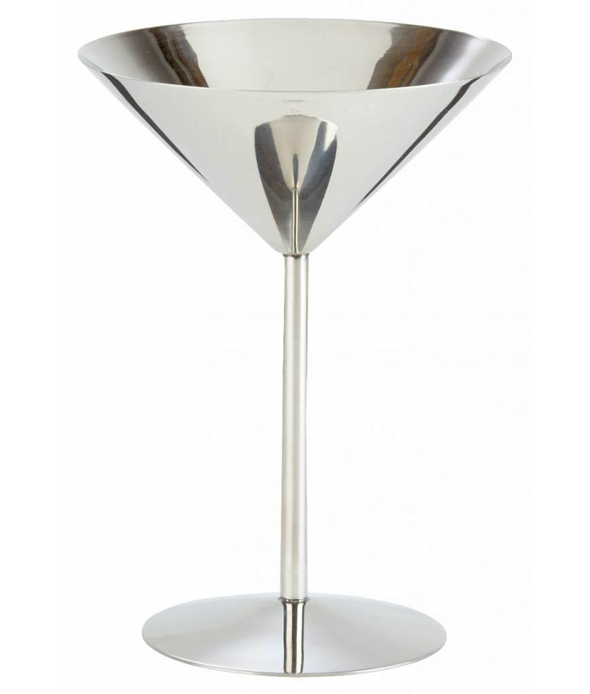 Stylepoint RVS martini glas hoge voet 220 ml