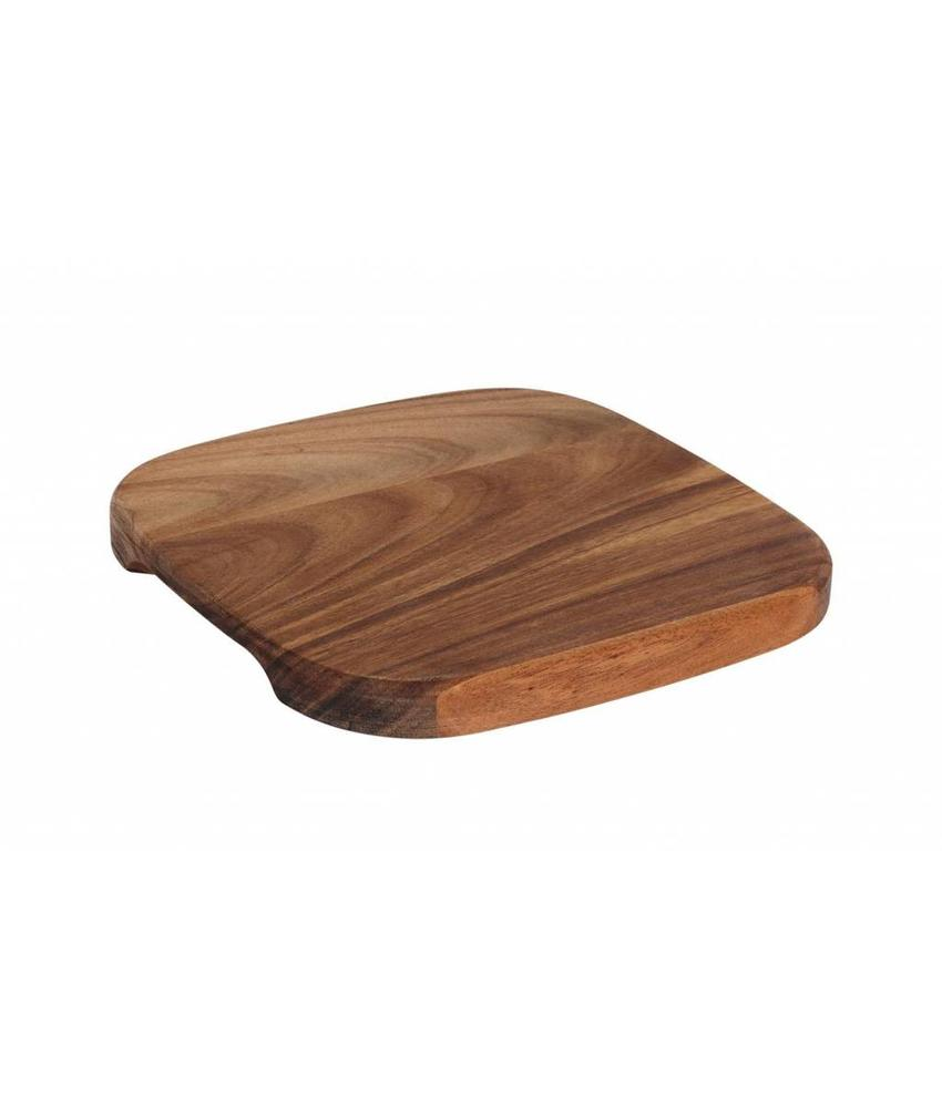 Stylepoint Acacia serveerplank vierkant 17,5 cm 6 stuk(s)