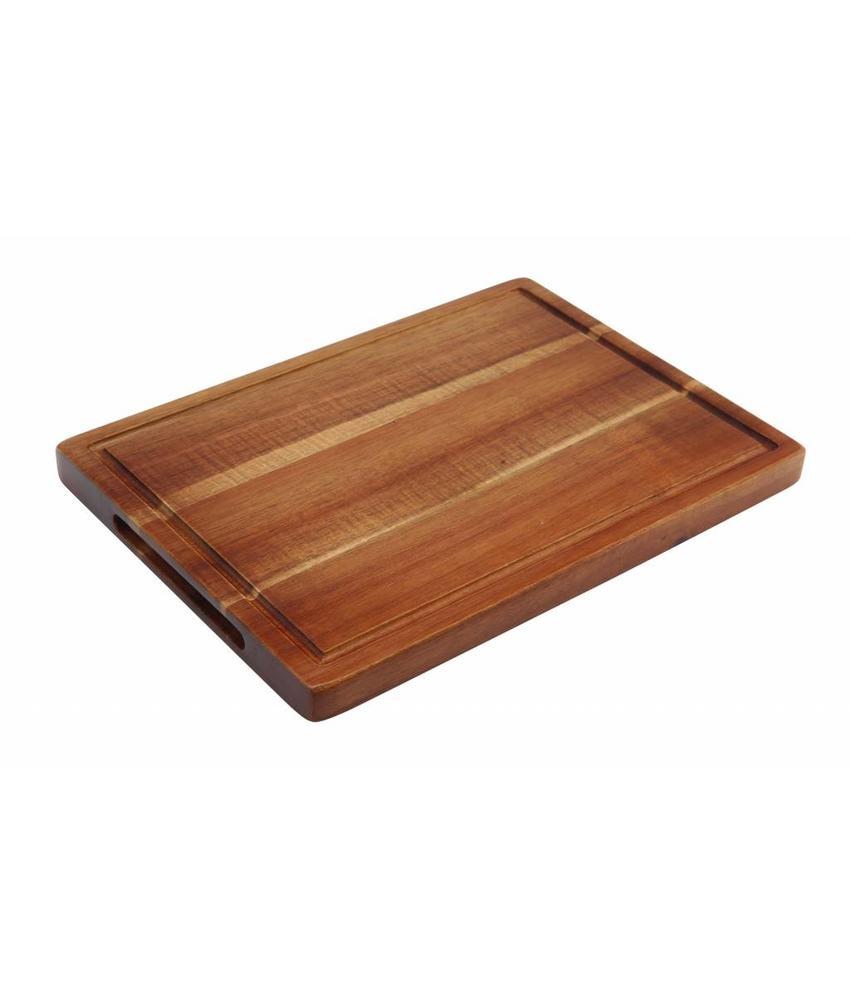Stylepoint Acacia plank rechth. met inkeping 28 x 20 x 2 cm