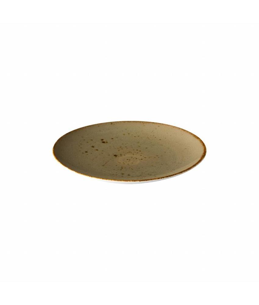 Q Authentic Sand Coupe bord reactive sand 27,7 cm 6 stuks