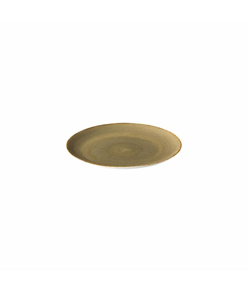 Q Authentic Sand Coupe bord reactive sand 21 cm 6 stuks