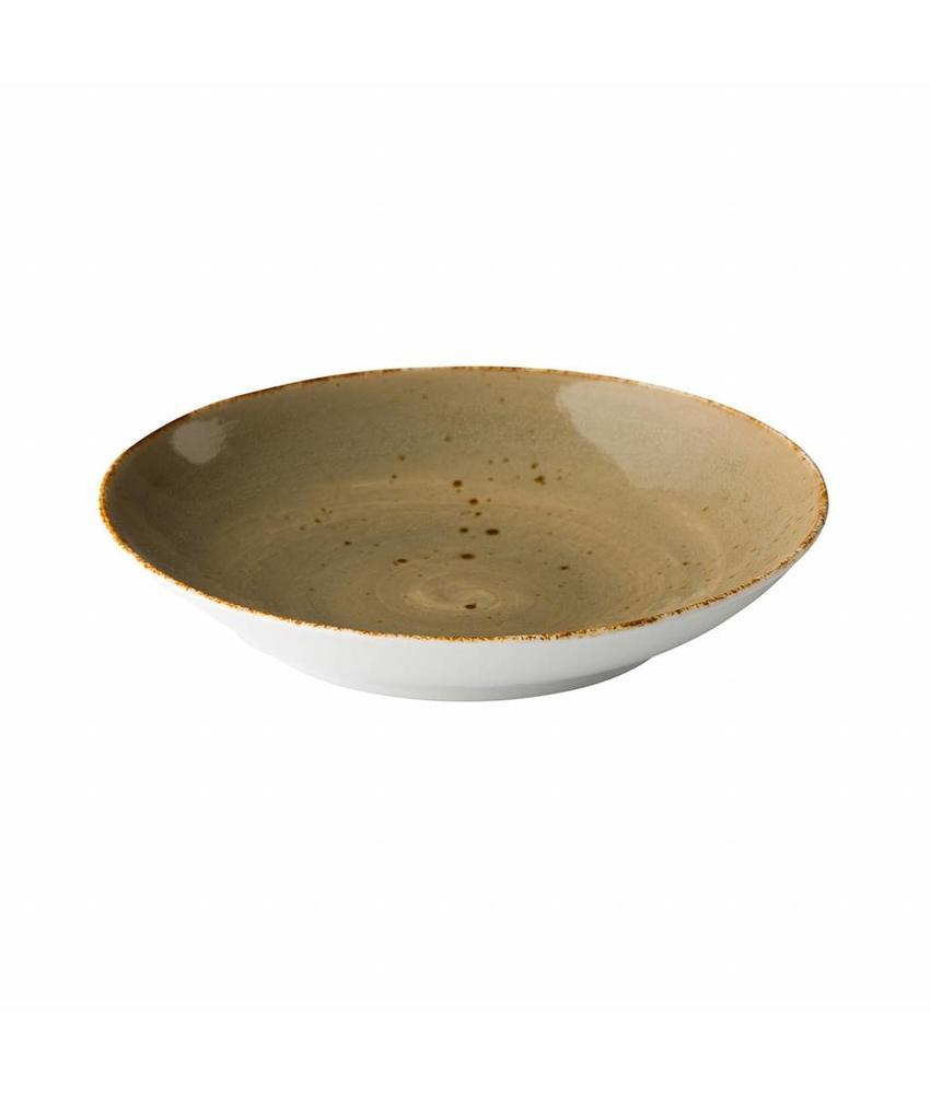 Q Authentic Sand Coupe pastabord reactive sand 26,2 cm 6 stuks