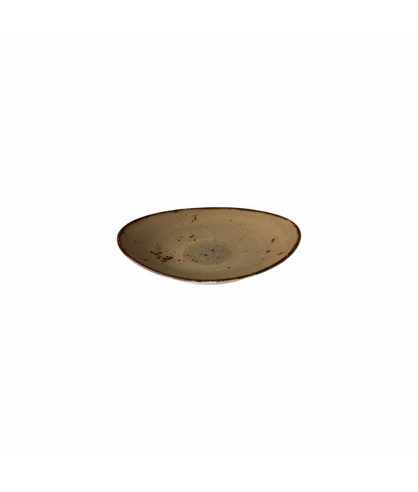 Q Authentic Sand Ovaal bord reactive sand 17,1 x 14,8 cm 6 stuks