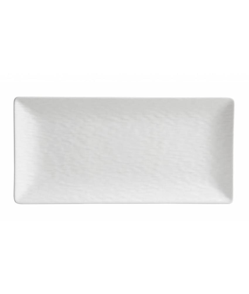 Stylepoint Aardewerk bord rechth. reliëf mat wit 30 x 20 cm 12 stuk(s)