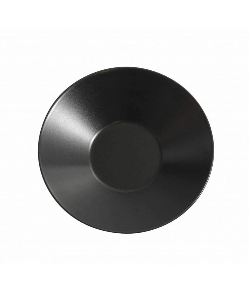 Stylepoint Aardewerk soepbord mat zwart 23 cm 12 stuk(s)