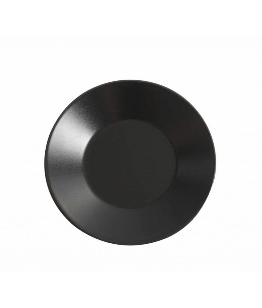 Stylepoint Aardewerk bord rond mat zwart 21 cm 12 stuk(s)