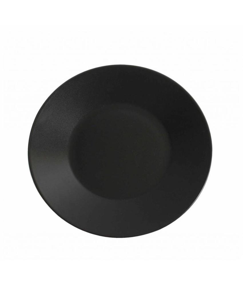 Stylepoint Aardewerk bord rond mat zwart 25 cm 12 stuk(s)