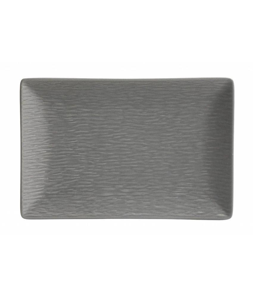 Stylepoint Aardewerk bord rechth. reliëf mat grijs 30 x 20 cm 12 stuk(s)
